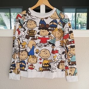 Mighty Fine x Peanuts Pull Over Sweatshirt  Sz. S